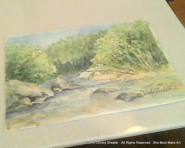 One of my watercolor paintings, done in Glacier National Park, is the inspiration for the banner.