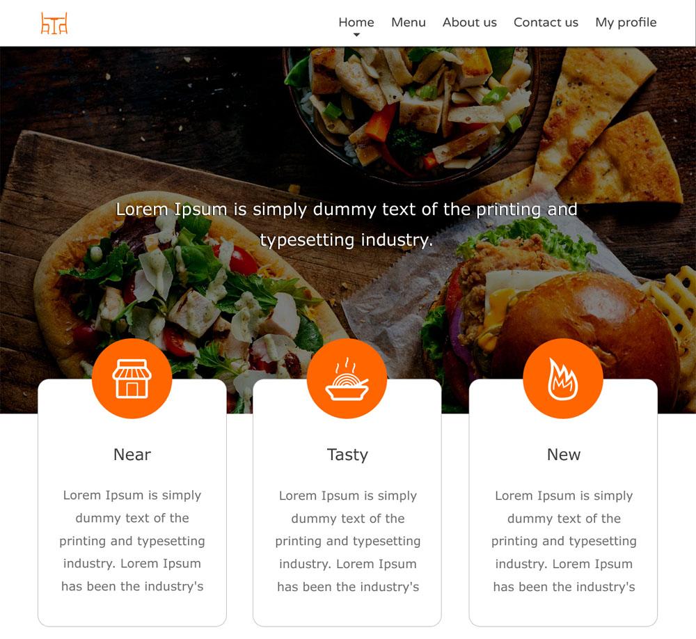 Free Food Website Template PSD | Psdblast