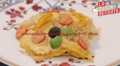 La Cuoca Bendata - Lasagna estiva di pane carasau ricetta Parodi