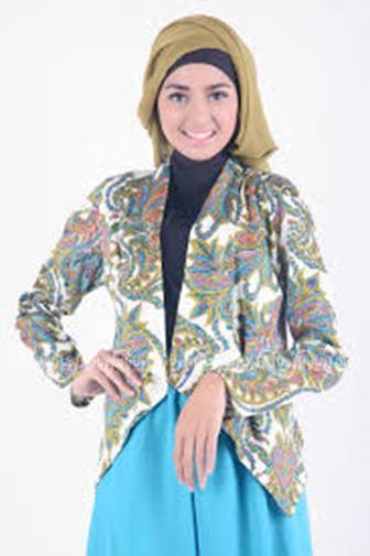 Model Baju Batik Modern Terbaru Kombinasi Blezer Modern