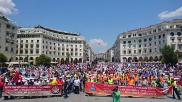 Grecia: Gran manifestación anti-OTAN y anti-imperialista en Tesalónica