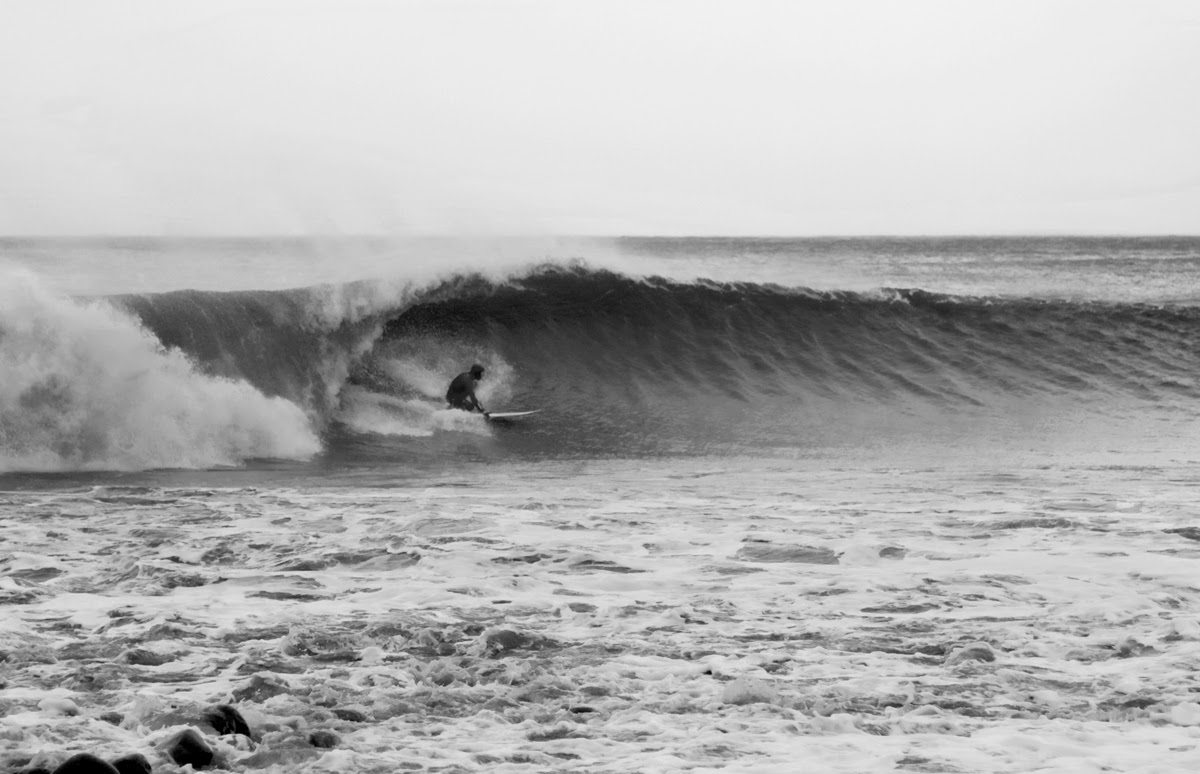 Surf, Surfing, Lefthander, Black & White Photography