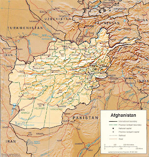 Picture of Afghanistan map in 2003