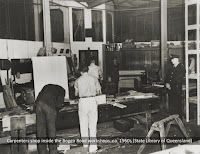 Carpenter's shop inside Boggo Road Gaol, Brisbane, undated.