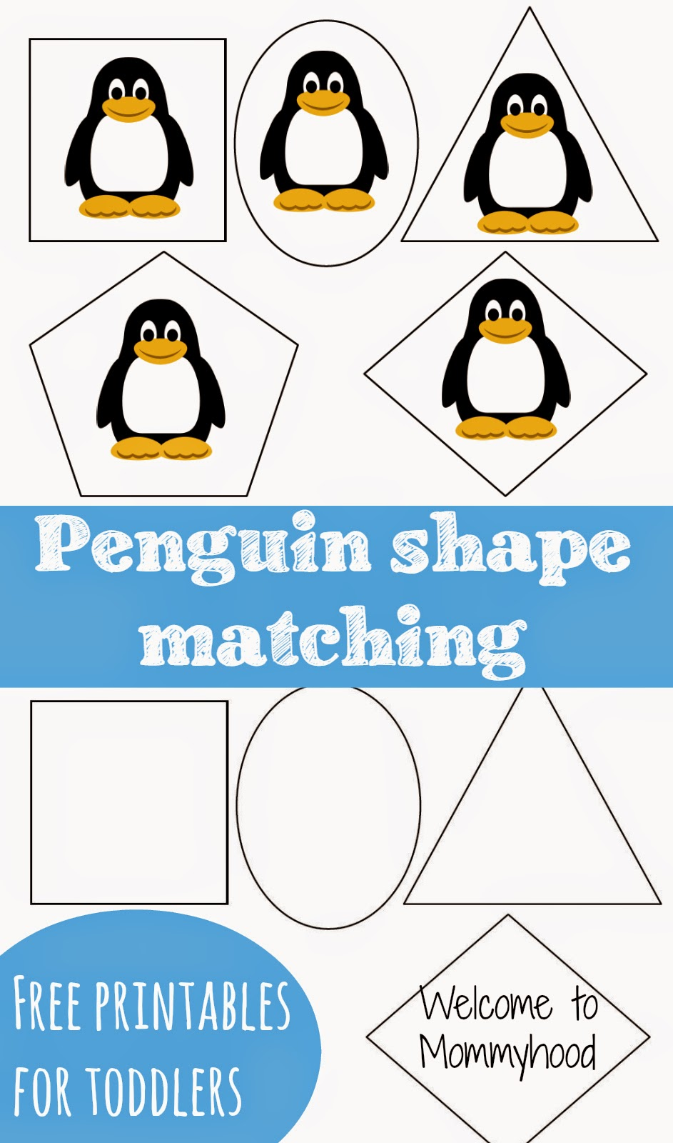 Penguin Shape Printables Welcome To Mommyhood