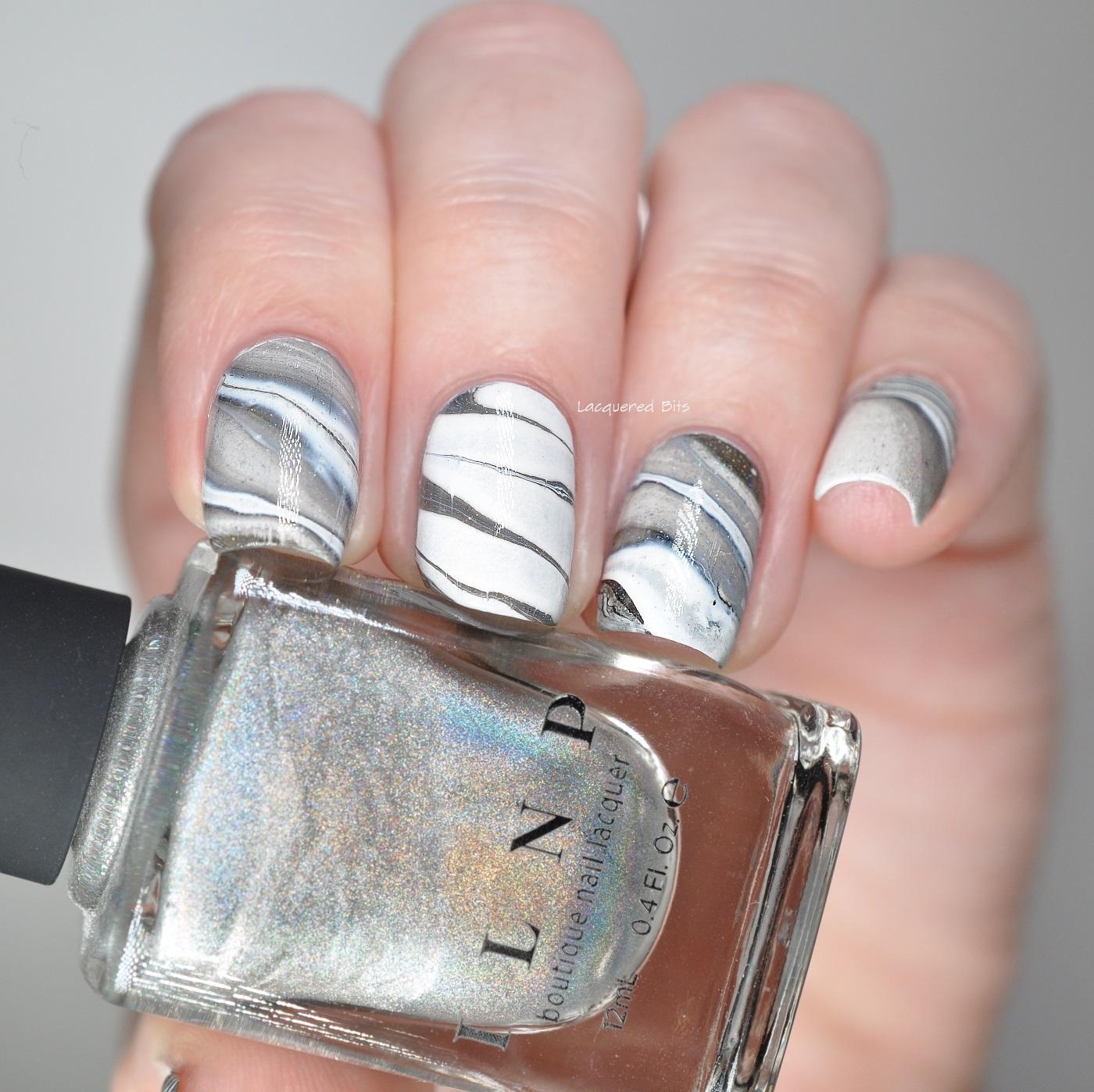 how to make marble nail polish