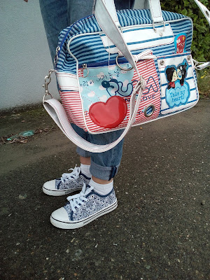 pucca handtas bag kawaii cute printed sneakers boyfriend jeans