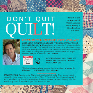Quilting Sales and marketing workshop with Billy Lowe