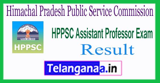 HPPSC Himachal Pradesh Public Service Commission Assistant Professor Result 2017