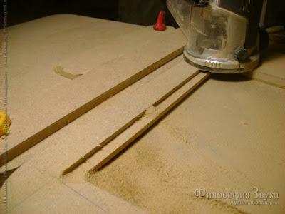 Фрезеровка углубления под сетку в крышке корпуса гибридного усилителя