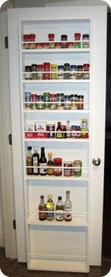 Someday Crafts Spice Rack Pantry Door