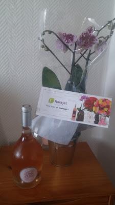 Orchidée et rosé Florajet