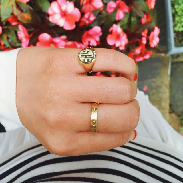 preppy monogrammed signet ring under $100