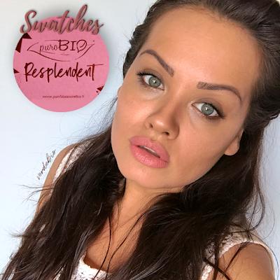 """Swatches + Applicazione Illuminanti e Bronzer Purobio Cosmetics collezione """"Resplendent"""" verdebio"""