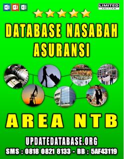 Jual Database Nasabah Asuransi Nusa Tenggara Barat