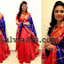 Sreemukhi Red Floor Length Salwar