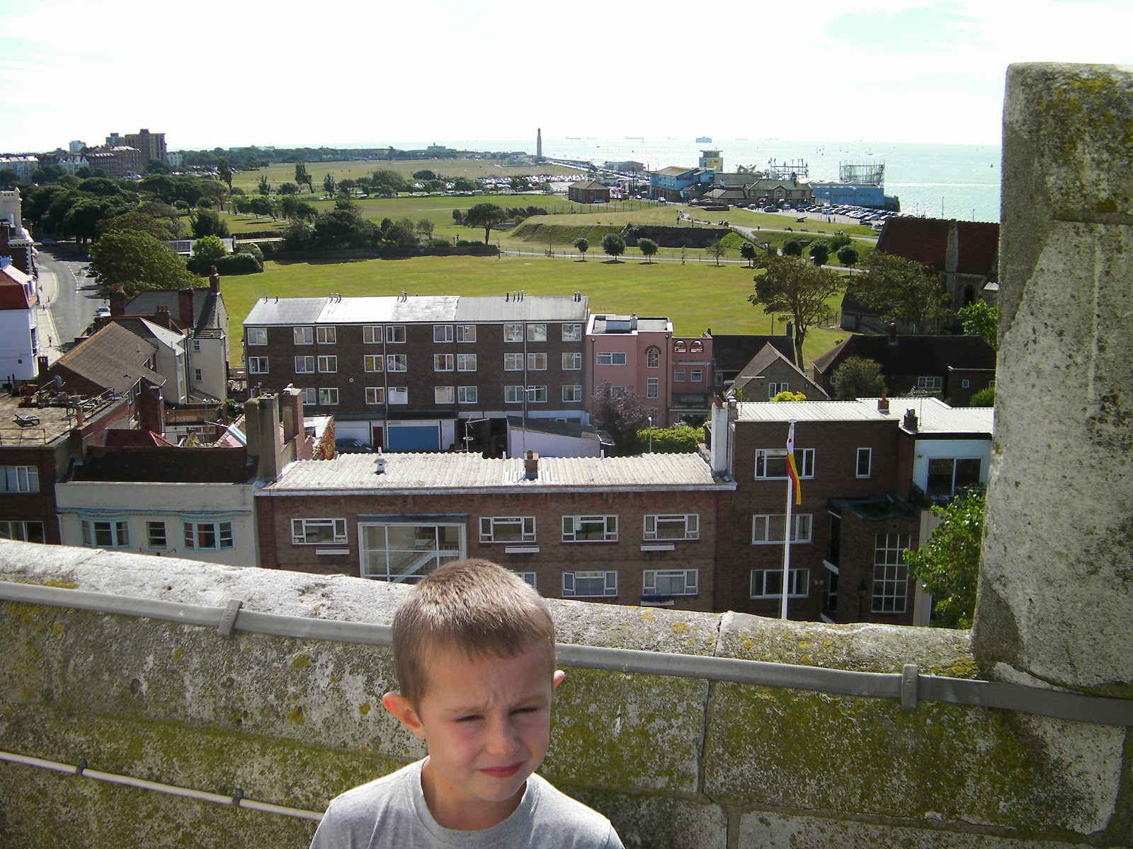 view along southsea seafront from cathedral roof