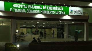 Gerador de Hospital de Trauma em João Pessoa não suporta apagão e pacientes vão parar no pátio