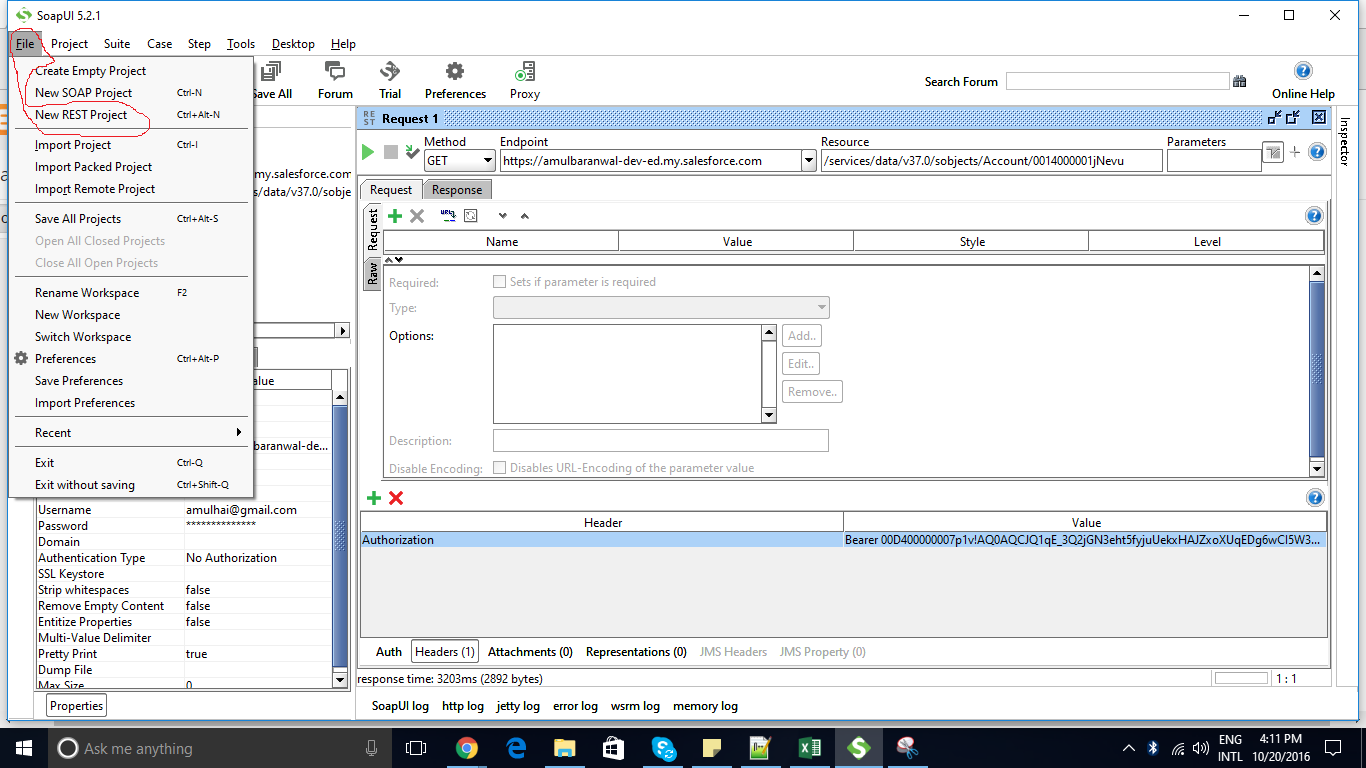 Use salesforce rest api in soap ui tool open the soap ui tool click on file new rest api project baditri Images
