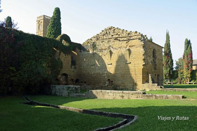 Restos de dependencias del Monasterio de la Oliva, Navarra
