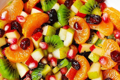 WINTER FRUIT SALAD WITH MAPLE-LIME DRESSING
