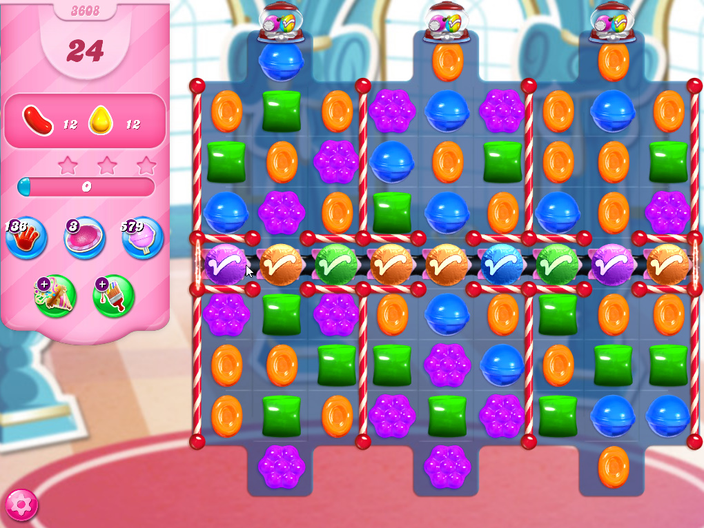 Candy Crush Saga level 3608