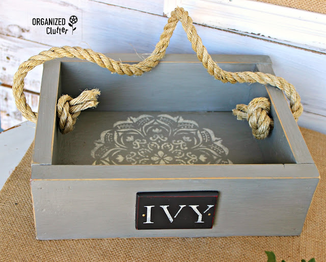 Rummage Sale Box to Ivy Display Piece organizedclutter.net
