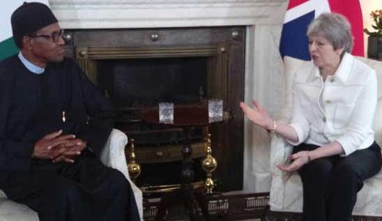 buhari meets theresa may