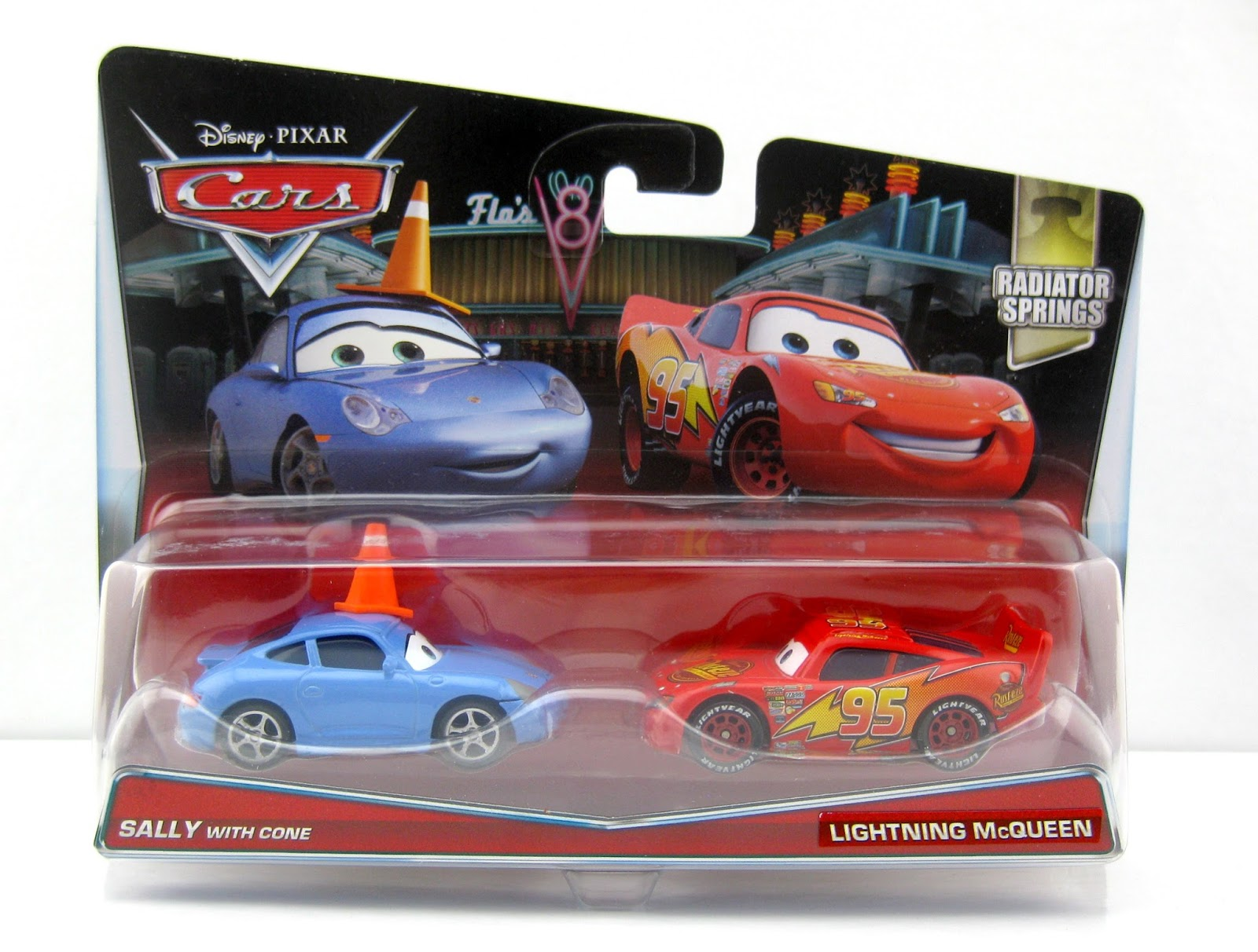 Cars Sally with Cone & Lightning McQueen