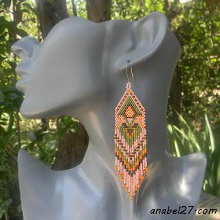этнические украшения из бисера - серёжки
