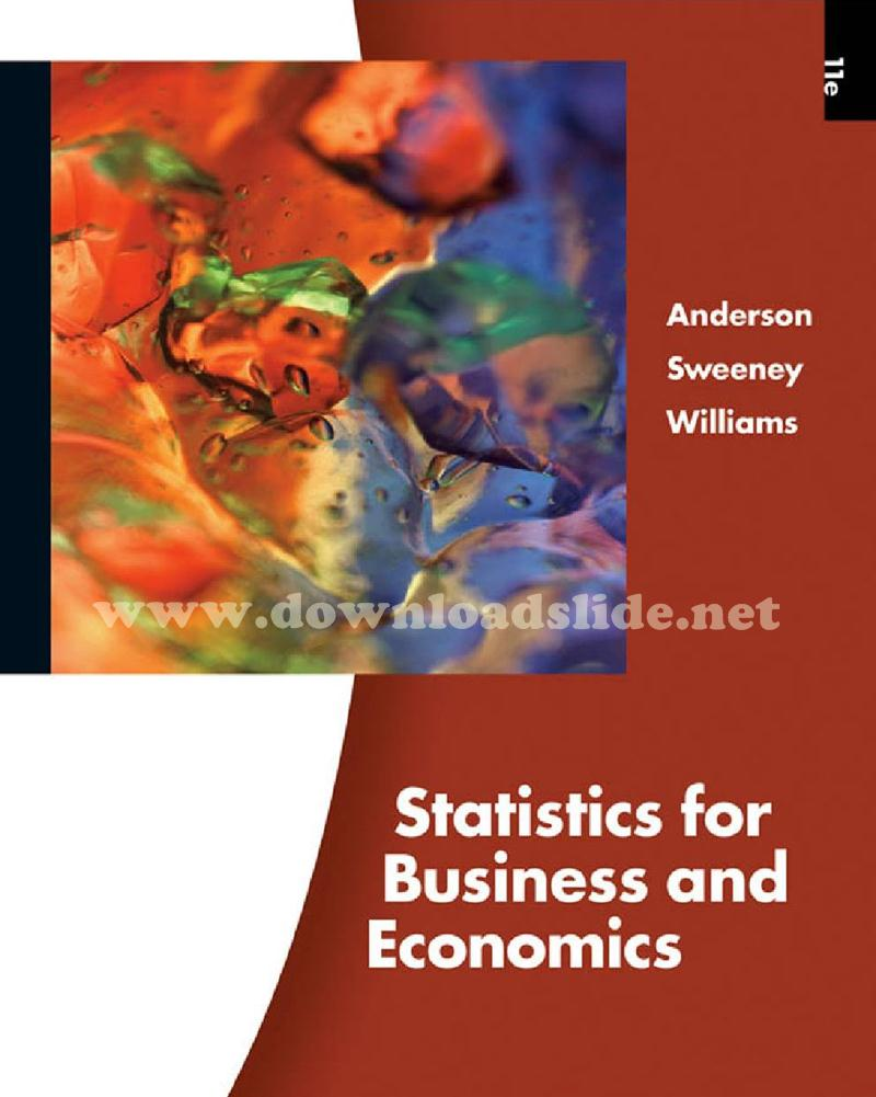 Statistics For Business And Economics 11th Edition Ebook
