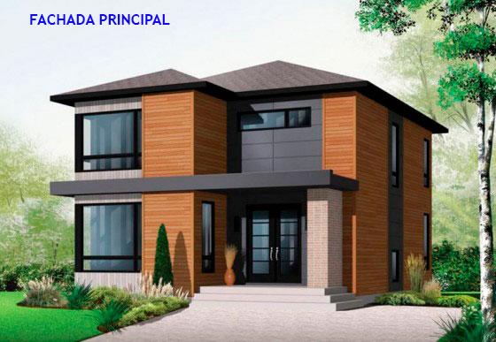 Plano arquitect nico de casa en terreno de 8 x 10 metros for Fachadas de casas de 5 metros de ancho