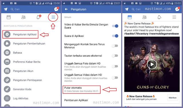 Cara supaya VIDIO FB (Facebook) tidak PLAY Otomatis di HP dan PC