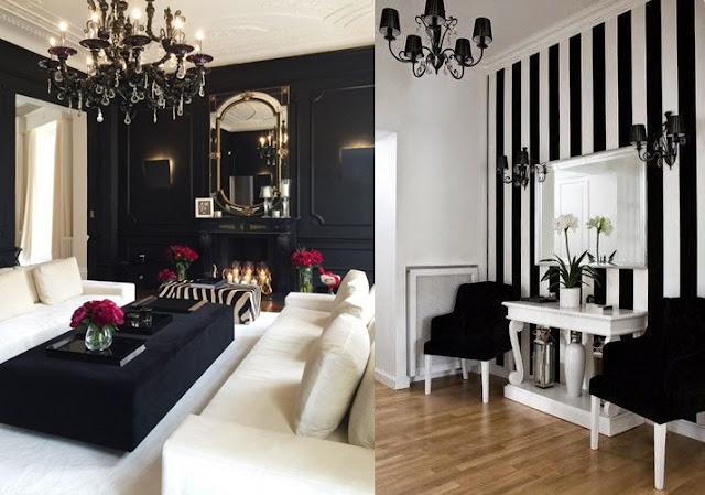 decoração com cor  preta