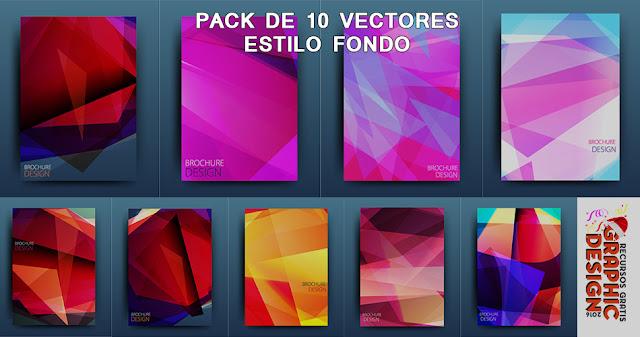 Pack de 10 fondos en formato [EPS] [VECTOR ] Gratis | Illustrator