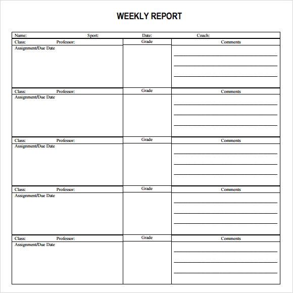 weekly report tony buoi sang