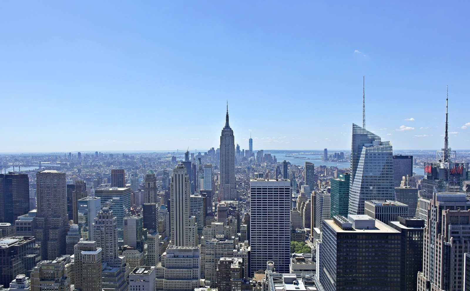 view of NYC, Rockefeller centre, new york