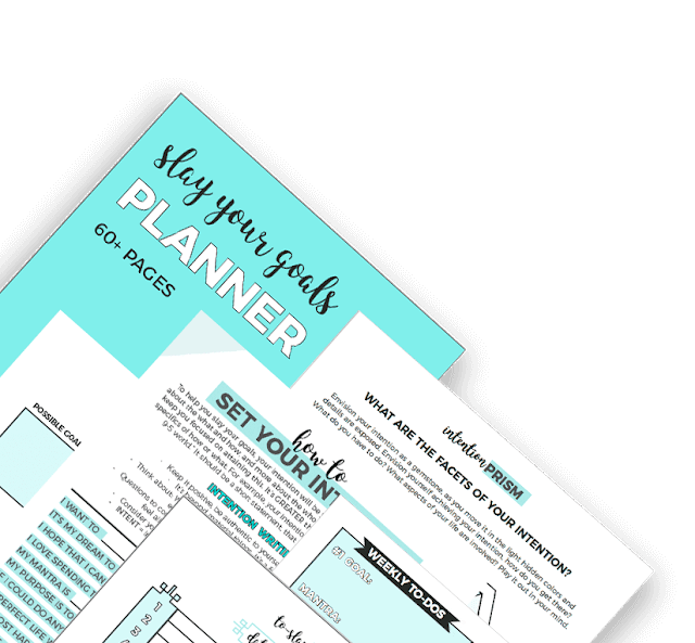 Set Goals and Achieve Them Without Feeling Overwhelmed. (The Slay Your Goals Planner Review)