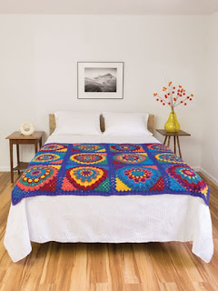 Crochet a Mandala Granny Afghan Pattern instructions