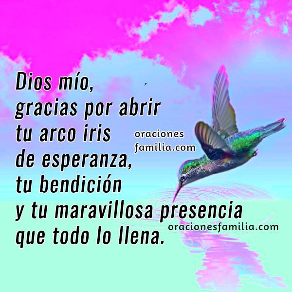 Oración corta de buenos días, imágenes cristianas para desear un buen día por Mery Bracho.