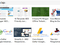 Cara Memasang Matched Content Adsense di Bawah Artikel
