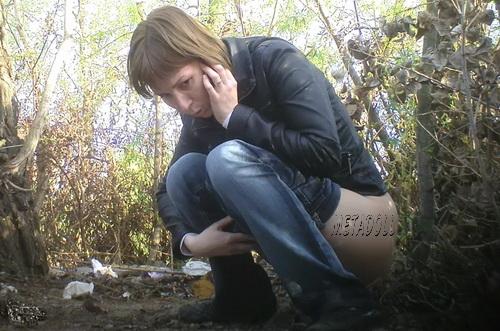 PissHunters 9155-9170 (Girls pee outdoors hidden camera. Hidden cam in public toilet)