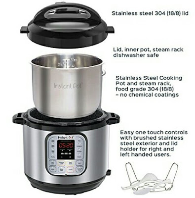 IP-DUO80 Pressure Cooker - Programmable MultiFunction Instant Pot