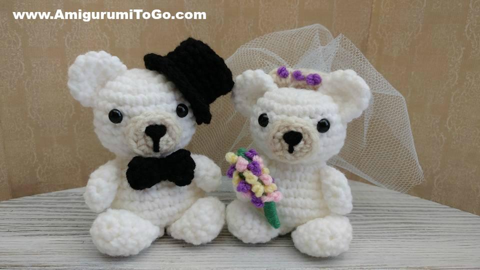 Pocket Ghost Bride And Groom Amigurumi To Go