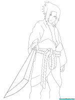 Uchiha Sasuke Printable Kids Coloring Pages