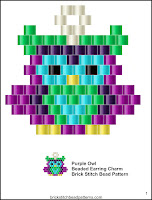 Free brick stitch bead pattern download.