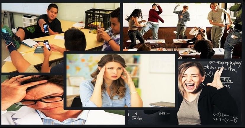 Resultado de imagem para Turmas mal comportadas tem levado professores a níveis alarmantes de estresse, exaustão emocional, depressão, cansaço crônico e frustração