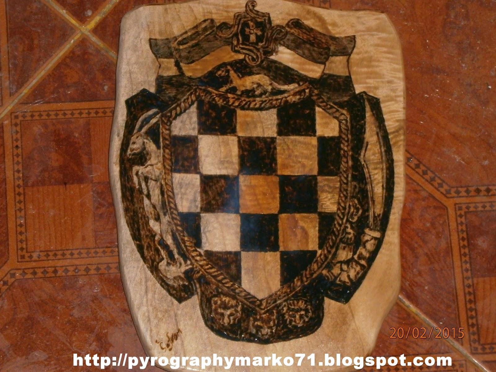 Pyrographymarko Stari Grb Hrvatske