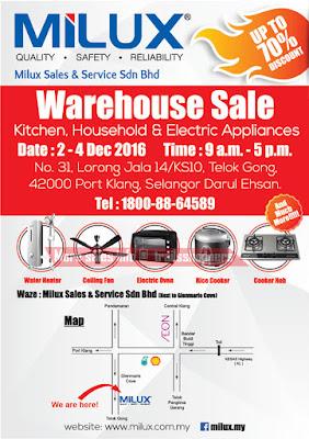 Milux Warehouse Sale 2016