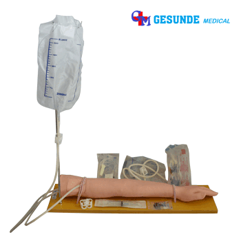Manekin Emergency Training Infus IV Injection Set (Tangan + Tiang Infus)